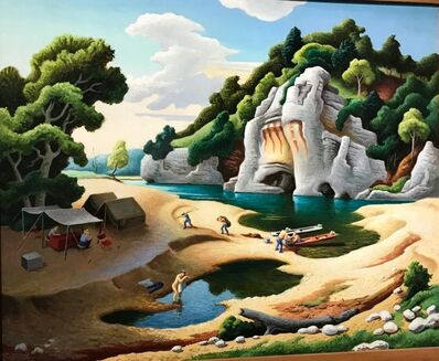 Thomas Hart Benton, 'Fisherman's Camp', 1968