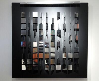 Julio Le Parc, 'Mobil cuadrado plateado sobre negro', 2007