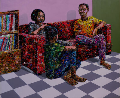 Marcellina Akpojotor, 'Red Couch Talk', 2019
