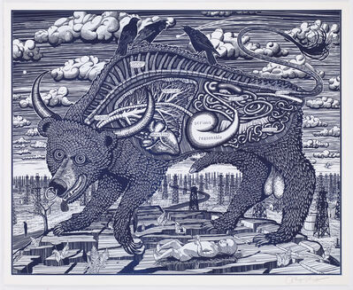 Grayson Perry, 'Animal Spirit (Blue)'