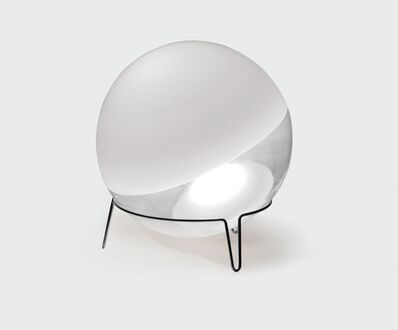 "Angelo Mangiarotti, 'a ""Sfera"" table lamp in Murano glass and chromed metal', ca. 1970"