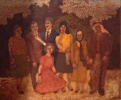 Sliman Mansour, 'Family', 1990