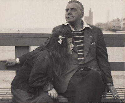 Harry S. Lapow, 'Untitled (Man and Girl on Bench)'