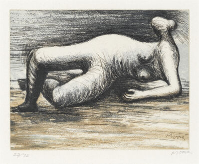 Henry Moore, 'Reclining Nude, from 'Sketchbook 1980' (Cramer 670)', 1983