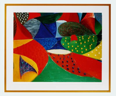 David Hockney, ' Fifth Detail, Snails Space March 27 1995', 1995