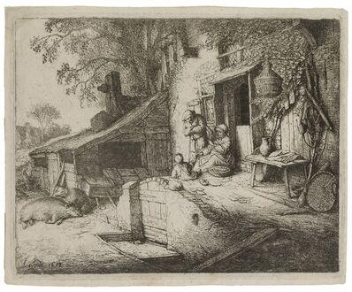 Adriaen van Ostade, 'The Woman Spinning', 1652