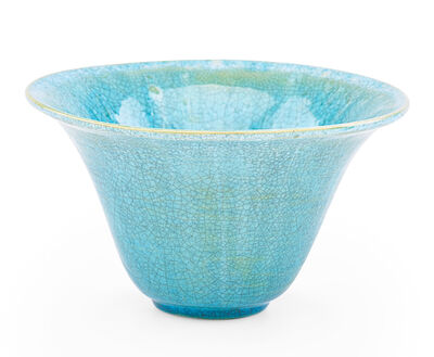 Glen Lukens, 'Flaring vase, turquoise crackle glaze, Los Angeles, CA'