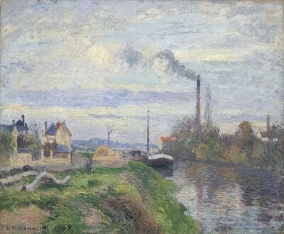 Camille Pissarro, 'Le Quai de Pothuis a Pontoise', 1876