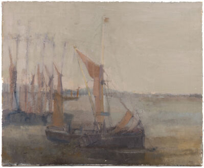 Bernard Myers, 'Thames sailing barge, estuary, Essex', Painted in the 1950s.