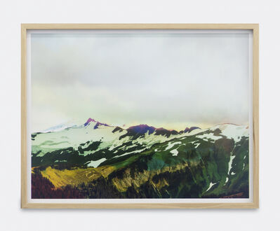 Peter Funch, 'Mt. Baker From Skyline Divine With Clouds Obscuring Summit', 2014
