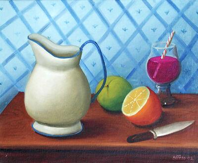 Fernando Botero, 'Still Life with Straw', 2002