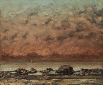 Gustave Courbet, 'The Black Rocks at Trouville', 1865/1866