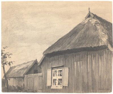 Lyonel Feininger, 'Farm House', 1905