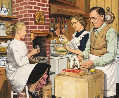 Stevan Dohanos, 'Family Cooking', 20th Century