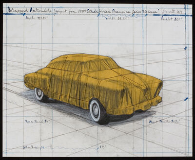 Christo, 'Wrapped Automobile (Project for 1950 Studebaker)', 2015