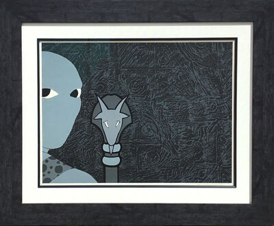 Belkis Ayón, 'Belkis Ayon, Untitled (Head with Goat)   ', 1990
