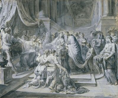 Jean Bardin, 'Solomon's Idolatry', 1777