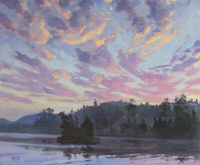Réjean Roy, 'Coucher soleil, Lac Smallian', 2019