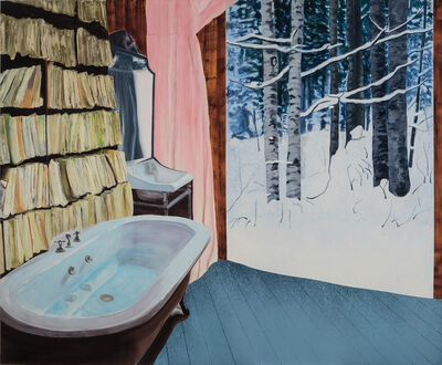 Dexter Dalwood, 'Wittgenstein's Bathroom', 2001