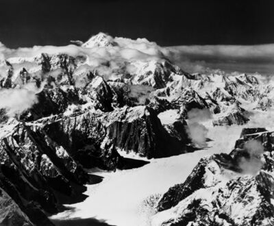Bradford Washburn, 'Mount McKinley looking up Ruth Glacier - The Great Gorge', ca. 1950s
