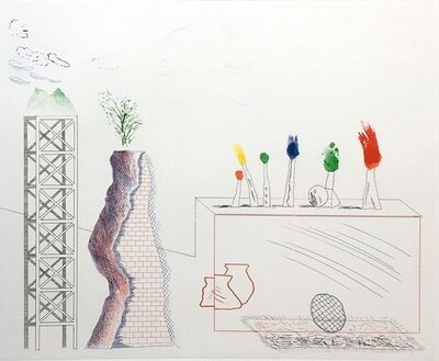 David Hockney, 'A Tune', 1976-1977