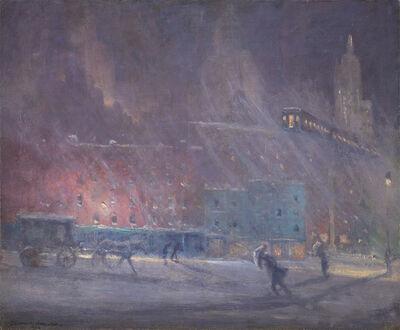 John McLure Hamilton, 'Third Avenue El Nocturne', 1936