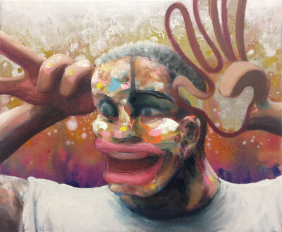 Thomas Agrinier, 'Ha Ha Ha (étude pour Chat ! 2ème version)', 2018