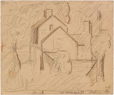 Oscar Bluemner, 'AT ORCHARD PT STATION', 1917