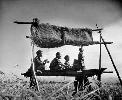 Teisuke Chiba, 'Driving off Sparrows, Kitsunezaka, Taiyu Village', ca. 1943