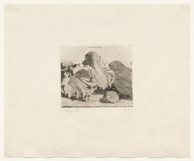 Giorgio Morandi, 'Natura morta con vaso conchiglie e chitarra, 1921 (Vitali 7)', 1921