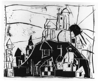 Lyonel Feininger, 'Stadt auf dem Berge - Mont St. Michel (City on the Mountain - Mount St. Michel). ', 1918