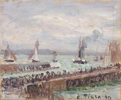 Camille Pissarro, 'Entrée du port du Havre et le brise-lames ouest, soleil, mer agitée', 1903