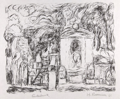 Hans Purrmann, 'Brunnen in Levanto II (Fountain in Levanto II)', 1966