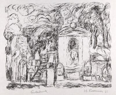 Hans Purrmann, 'Brunnen in Levanto II (Fountain in Levanto II)', 1966