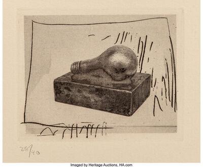Jasper Johns, 'Light Bulb', 1967-69