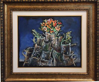 Yosl Bergner, 'Still life and flowers'