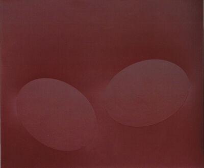 Turi Simeti, 'Due ovali bordeaux', 2009