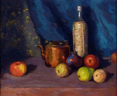 Arthur Marschner, 'Still Life With Fruit and Copper Pot', 1930