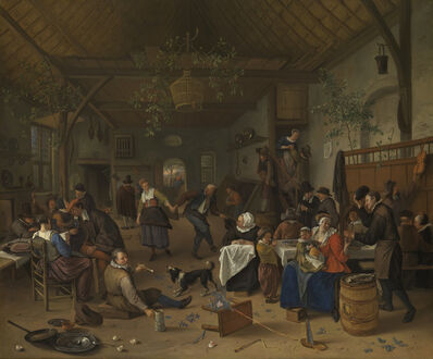Jan Steen, 'Merrymaking in a Tavern with a Couple Dancing', 1670