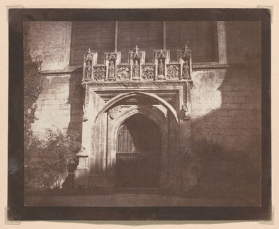 William Henry Fox Talbot, 'Ancient Doorway, Magdalen College, Oxford', ca. 1843