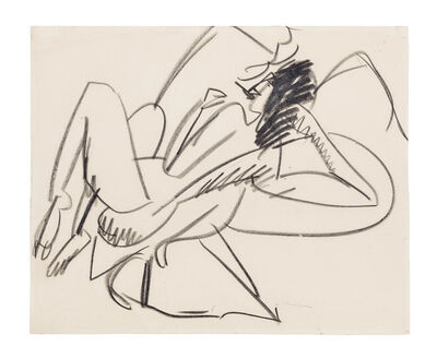 Ernst Ludwig Kirchner, 'Reclining Female Nude', ca. 1914
