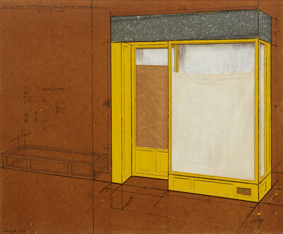 Christo, 'Yellow Store Front (Project From Merkin Paint Co., Inc. NY)', 1965