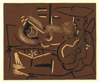 Pablo Picasso, 'Femme Couchée et Guitariste', 1962