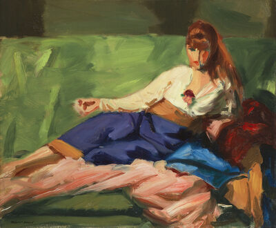 Robert Henri, 'The Lounge', 1916
