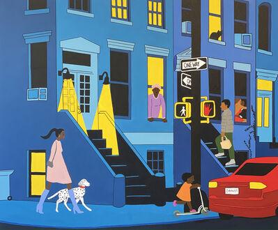Uzo Njoku, 'The Neighborhood at Night', 2021