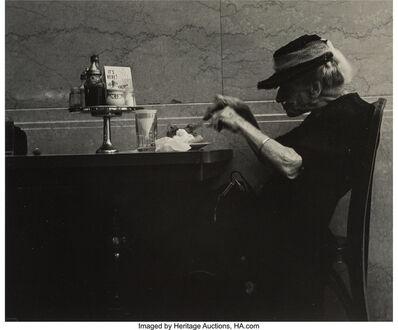 Joe Schwartz, 'Women at a Restaurant; Culver City Fire; and Yogi Expert in a Dance Movement', 1950s