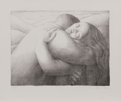 George Tooker, 'The Lovers, alternatively titled Embrace', 1982