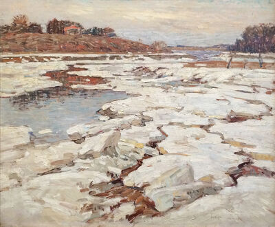 William Lester Stevens, 'A River in Winter', 1921
