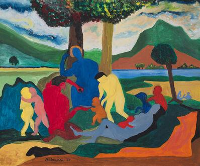Bob Thompson, 'Figures with Blue Saint', 1964