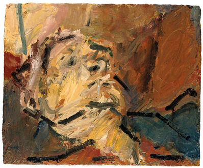 Frank Auerbach, 'Reclining Head of Julia II', 1997